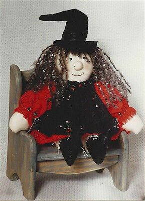 PATTERN Primitive Halloween Witch Doll UNCUT OOP Country Heartstrings RARE!