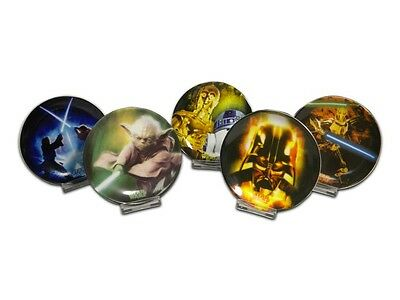 Star Wars Mini Painted Plates Euro 5 Different with Display Stands Collectible