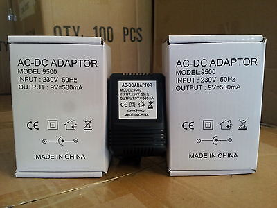 9V 500Ma Ac/dc Centre Negative 2.1Mm X 5.5Mm 2M Unregulated Power Supply Adapter