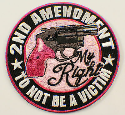 2Nd Amendment My Right Not To Be A Victim Motorcycle Uniform Patch Biker