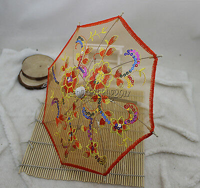 Doll Umbrella fits 18'' American Girl doll Embroidery Paillette Bumbershoot Y-99