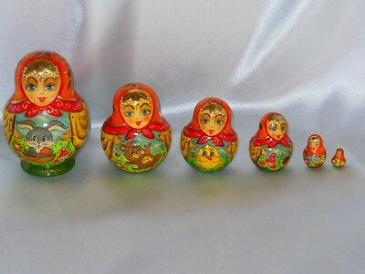 Vintage Russian Nesting doll Matryoshka 6   Folk Art