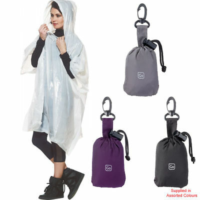 Go Travel - Poncho & Pouch (Assorted Colours) - Waterproof Poncho - FREE P&P
