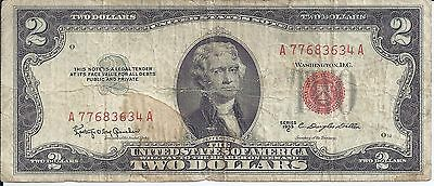$2 Two Dollar United States note 1953-C  Red Seal Granahan-Dillon Free Shipping