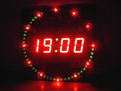 51 mcu electronic clock rotating led digital tube ds1302 clock 18b20 temperature