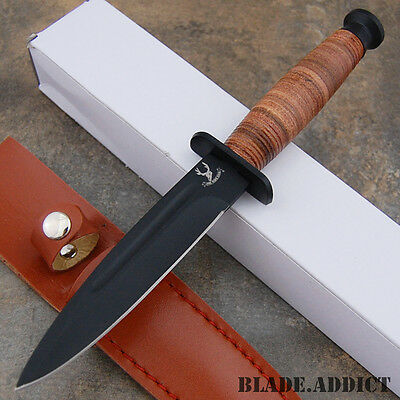"9"" Tactical Combat Survival Fixed Blade Hunting Knife w/ Sheath Bowie 6174-W"