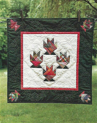 PATTERN Primitive Cake Stand Basket Block Wall Quilt by Country Threads UNCUT