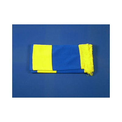 Royal Blue & Yellow Retro Bar Scarf Football Rugby Team Fan Supporter Unisex