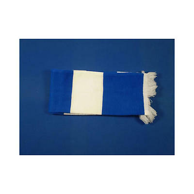 Royal Blue & White Retro Bar Scarf Football Rugby Team Fan Supporter Unisex
