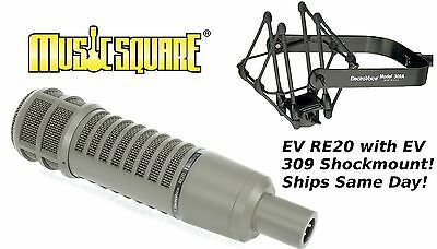 ELECTRO VOICE EV RE20 MIC with EV 309 Shockmount! Ships in 1 Business Day!