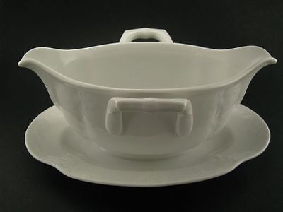 Dubarry by Kaiser - Gravy Boat with Attached Underplate - white