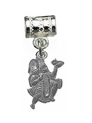 AUTH New Real Sterling silver 925 Hindu Monkey Lord Hanuman OM European Charm Je