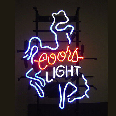 neon sign store display beer bar sign Real Neon COORS LIGHT RT21