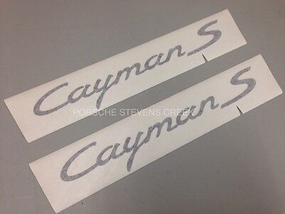 Porsche Cayman S Decorative Film Logo Decal Sticker Set BLACK OEM 981C