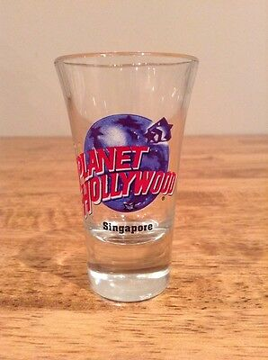 PLANET HOLLYWOOD SHOT GLASS ~ SINGAPORE ~ Excellent Condition