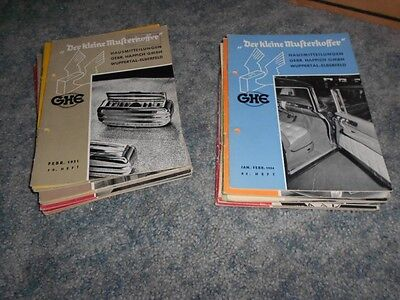 VINTAGE 1950's GHE GERMAN MANUFACTURING AUTOMOTIVE JOURNALS LOT of 24