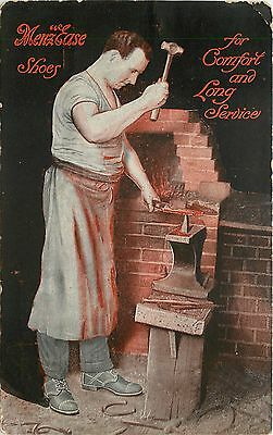 "Rushville Indiana~Blacksmith Shaping Metal~Menz ""Ease"" Shoes~Casady & Cox 1909"