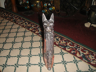 Superb Soapstone Cat-Heavy Cat W/Intricate Artwork-Stone Carved Cat Sculpture