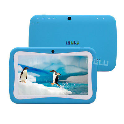 """iRulu BabyPad Y1 7"""" 8GB Android 4.2 Dual Core Blue Tablet PC for Kids Children"""