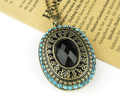 N1264 New Occident Fashion Rhinestone Turquoise Women Delicate Necklace Pendant