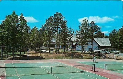 Fairfield Bay, Greers Ferry Lake AR Singles Tennis Match on Courts~OUT! 1970s pc