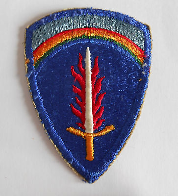 ~Vintage WWII US ARMY PATCH ~ US ARMY IN EUROPE SHAEF Original ~