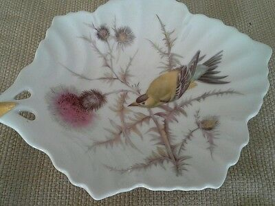 Antique Vintage Mitterteich Bavaria Germany Bird Leaf Shaped Dish Candy Plate