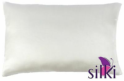 Ivory White 19 momme 100% PURE MULBERRY SILK PILLOW CASE COVER Queen Standard
