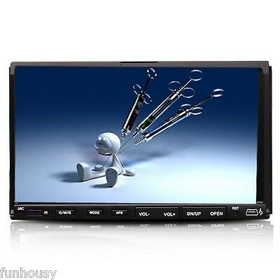 "HD Double 2 Din 7"" In Dash Car DVD CD  Player MP3  Stereo Radio Touch TFT Screen"