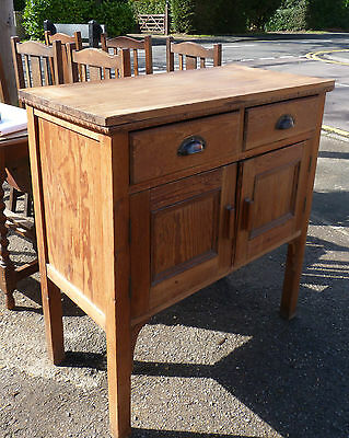 Old Pine Sideboard Dresser Base with Drawers