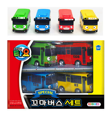 TAYO the Little Bus Special 4 Mini Cars Set Toy Characters Children Kids Gift