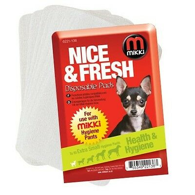 NEW Mikki Dog Hygiene Disposable Pads Bitch On Heat In Season For Use With Pants