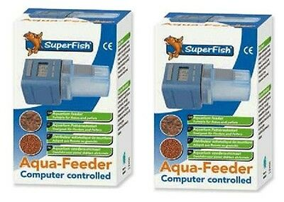 2 x Superfish Automatic Aqua Feeder Aquarium Fish Tank Flake Pellet Holiday Food