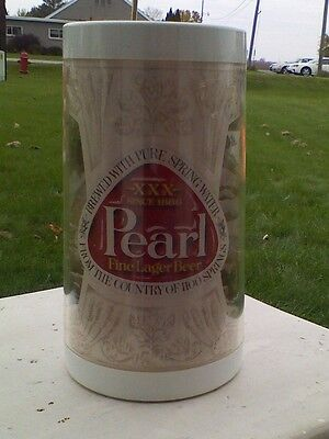 PEARL BEER 1100 SPRINGS 1970's WEST BEND THERMO SERV MUG STEIN GLASS FREE SHIP