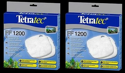 2 x TetraTec External Filter Floss Pad Media EX1200 Tetra 1200 Fish Tank