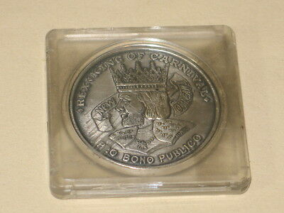 Rex 1967 Oxidized Silver Statue of Liberty New Orleans Mardi Gras Doubloon
