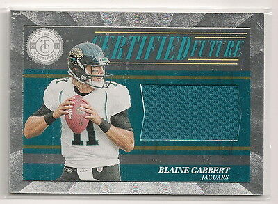 2011 Totally Certified Blaine Gabbert Rookie JERSEY Jaguars 416/499 *B1GZ