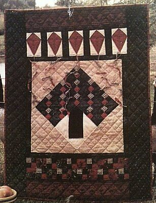PATTERN Primitive Wall Quilt Throw  EASY BEGINNER PROJECT UNCUT Country Threads
