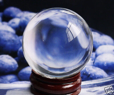 40mm +Stand HOT Sell ASIAN QUARTZ Clear Crystal Ball Sphere A1