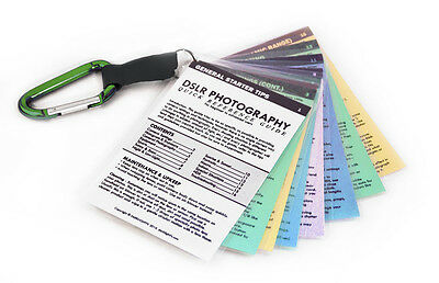 DSLR Cheat Sheet Guide Quick Cards for CANON Rebel XTi T1i T2i T3i T4i T5i GREEN