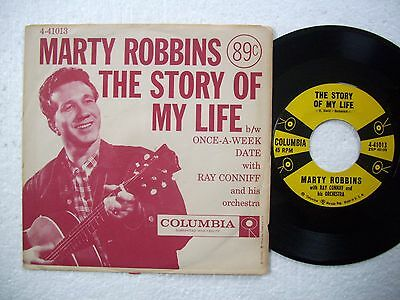 MARTY ROBBINS - THE STORY OF MY LIFE / ONCE-A-WEEK DATE - 1957 VG+