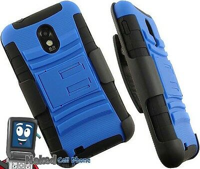 BLUE BLACK CASE STAND BELT CLIP FOR SAMSUNG GALAXY-S 2 II D710 EPIC 4G TOUCH