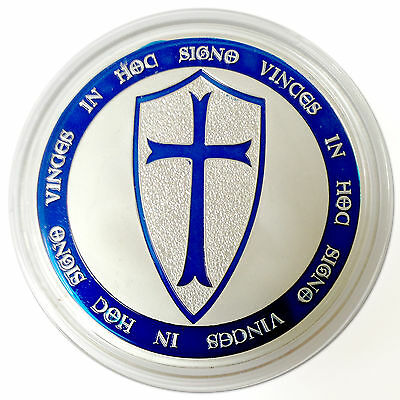 Limited Ed. 1 Troy Oz. Knights Templar Coin .999 Fine Silver Clad Art Coin