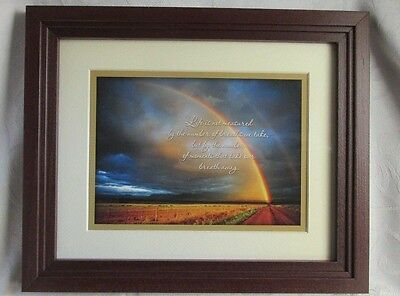 Home & Garden Party NEW Framed Rainbow Moments Print Life is not measured by the