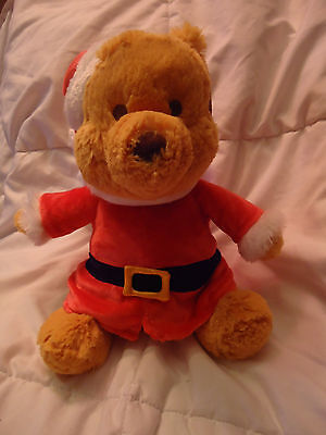 Winnie the Pooh SANTA Disney Stuffed Animal Plush Collectible Rare New with Tags