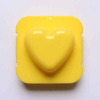 Cute Yellow Heart Shape Rice Jelly Boil Egg Plastic Mold Stamp Mould Bento Box