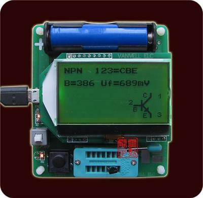 Big 12864 LCD inductor-capacitor ESR meter MG328 multifunction Tester Diode PNP