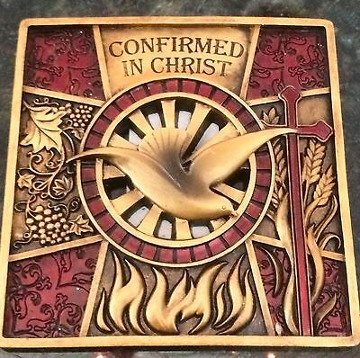Jesus Holy Spirit Dove Wall Plaque Confirmed in Christ Amazing Religious Gift