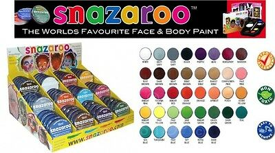 Snazaroo Face & Body Paint 18ml Water Based Made In UK Choice of colours