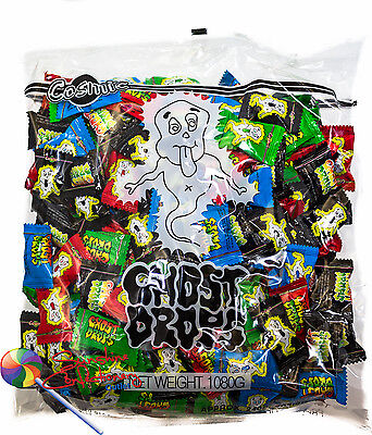 GHOST DROPS LOLLIES - approx 230-240 Pieces per bag -  Halloween Lollies
